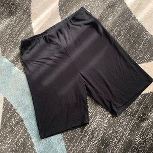 Black Yoga Bodycon Biker Shorts